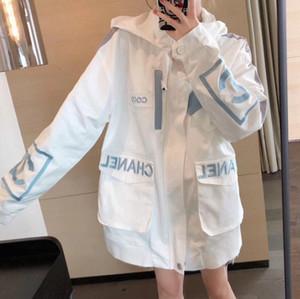 New inverno tendência trench coat personalidade mulheres casaco de inverno jaqueta de inverno moletom com capuz Camisa garantia de qualidade do transporte livre solto
