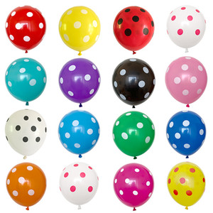 2.8g thick extra large 12 inch round dotted balloon birthday party decoration candy color balloon printing balloon