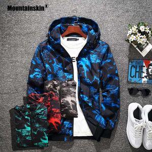 Erkek Ceketler MountainSkin 2021 Erkek Kamuflaj Pilot Bombacı Ceket Erkek Moda Beyzbol Hip Hop Palto Ceket Marka Giyim SA751