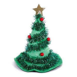 Xmas Tree Hats Creative Elf Straw Hat Party Cap Dress Up Holiday Embellishment Creative Adults Present New Year Supplies