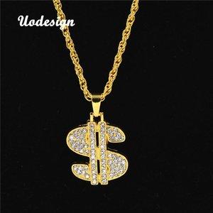 Uodesign ожерелье Hip Hop Rap цвета золота США ожерелье доллар цепи аксессуары Hiphop ювелирных изделий Деньги