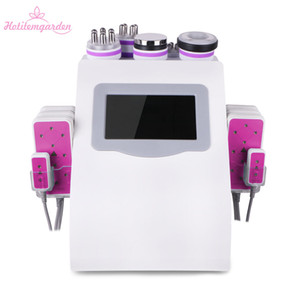 Ultrasonic 40K Cavitation 6 in 1 LED RF Radio Frequency Unoisetion Cavitation Ultrasonic Facial Machine Weight Loss for Home Use