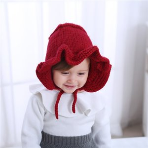 Children's warm knitted hat Ball baby hat woolen children's baby autumn and winter
