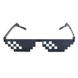 Mosaik Sonnenbrille Lustige Hip Hop Unisex Quadratic Unisex Sonnenbrille für Stage Performance Zeitskleidung