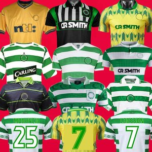 Celtic 1980 1988 1989 1991 1994 95 96 LARSSON MORAVCIK 1997 1998 1999 maillots de football rétro celtique 2005 2006 vintage classique Chemises de football