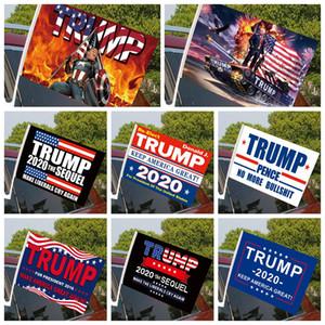 الأزياء بايدن سيارة العلم 45 * 30CM 2020 الولايات المتحدة ترامب الانتخابات الرئاسية طباعة العلم العلم نافذة السيارة بما في ذلك البحر سارية العلم شحن DDA556