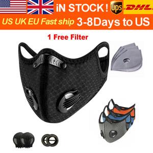 Мода дышащая велосипед маски спорта на открытом воздухе тренировки маска РМ2,5 защитная маска пыли и загрязнения предотвращение запуска активированного угля фи