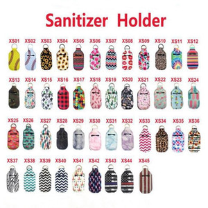 Bottle Holder Keychain Bottle Covers Lipstick Set Sanitizer 30ml Accessories Baseball Sunflower Printing New Safeguard 45 Designs YL07