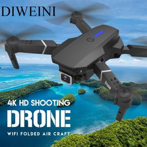 Дрон HD 4K 1080P Высота камеры Удерживать RC Складная Quadcopter Drone с широким углом E525 WIFI FPV