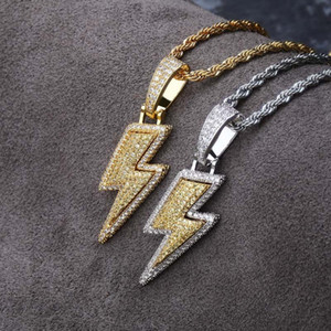Hip Hop Micro Pave CZ Stone Bling Iced Out Pendants Necklace for Men Rapper Jewelry Pendant necklace