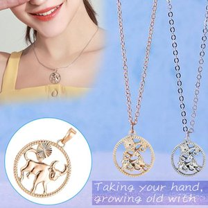 New Style Necklace Couple Twelve Constellation Choker Pattern Accessories Pendant Necklace Fashion Jewelry Ornaments Necklaces