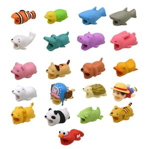 Cute Cable Bite Animal Cable Protector Organizer Management Dog Cat Duck Rabbit Winder Phone Holder For Iphone 9