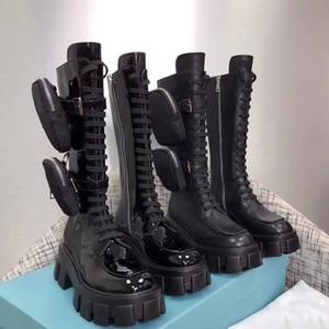 Designer Martin Boots Mujeres Vestido de mujer Botas de Rois Boots Real Cuero Nylon Medio Botas Australia 2 Botines removibles Botines de la plataforma de fiesta de invierno