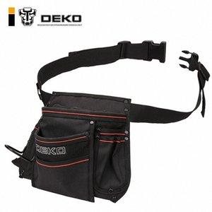 DEKO 12-pocket Waist Tool Bag 600D Oxford Cloth Waterproof Bag Large Capacity W  Adjustable Belt YGu8#