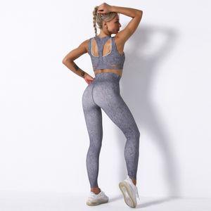 Trajes para mujer Sujetador Set Trajes Sin costura Sportwear Gymshark Designer Yoga Trajes de yoga Dos piezas Mujeres Leggings Entrenamiento deportivo para Fitness R Kebi