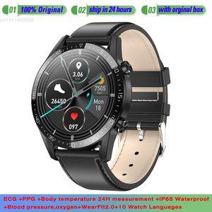 T03 Smart Watch Bluetooth Smartwatch ECG Fitness Tracker Heart Rate Monitor Blood Pressure Wristwatch IP68 Waterproof Men Women