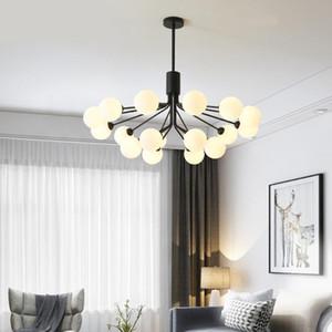 Modern Chandelier Lighting Per Soggiorno Nordic sfera di vetro lampadario Decor Branch le lampade Led Hanglamp AC85 -266v