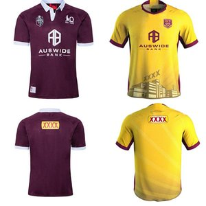 2020 2021 Malou Rugby League Queensland 19 20 21 QLD cimarrones Malou Rugby jersey MAROONS Estado de origen Rugby tamaño de la camisa S-5XL