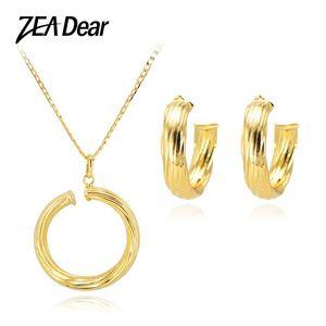 ZEA Дорогой Восхитительный комплекты ювелирных изделий Женщины Большие серьги ожерелье высокого качества для партии подарка венчания