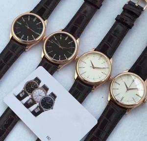 Hot Sale Cellini Tempo rolex everose polido Dial Relógio Mecânico Automático Brown Leather Strap 50505 Perpetual novo polido Mens Relógios Ne8t #
