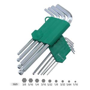 9 30pcs Wrench Set L-shaped Inner Hexagonal Key Wrench Tool Combination Spanner Kit Ball Head Plum Flower Inner Screwdriver Set