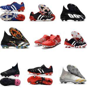 Mejor nueva Chaqueta original Predator Mania 19.1 19+ FG botas de fútbol Negro Blanco Rojo alta calidad Tacos de fútbol Zapatos Predator 20 + mutador