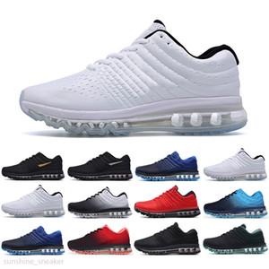 Nike Air Max 2017 2018 الأكثر مبيعا الكلاسيكية 2017 المشي في الهواء الطلق أحذية رجالية عالية الجودة رخيصة أزياء حذاء عرضي المدرب الجديد حجم 36-46 الشحن المجاني