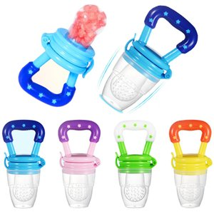 New Baby Food Pacifier Clips Soother Holder Baby Nipple Feeder Silicone Pacifier Fruits Infant Feeding Supplies Soother Nipples