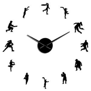 Efeito Arte Lover Recados E Quarto Diy Espelho Relógio vivo Ténis sem moldura gigante relógio de parede masculino tenistas Assista Modern uwcwC Feminino