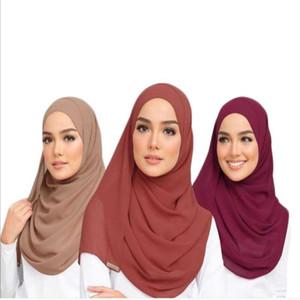 S002a Plain большого размера пузырь шифон Мусульманского хиджаб шарф головные платки оберните платок популярных шарфов исламскую шляпу