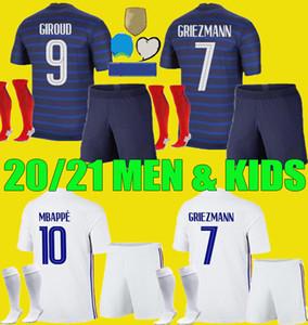 2020 France MBAPPE GRIEZMANN POGBA jerseys 2021 Soccer jersey Football shirts maillot de foot men + kids kit