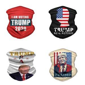 2020 Trump Magic Eşarp ABD Başkanı Trump Seçim Bandana Fonksiyonlu Sport Bisiklet Borulu Şapkalar Tasarımcı Yüz Maskeleri w-00231