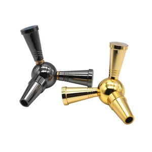 Interfaccia puro alluminio Stem Shisha Narghilè tubo flessibile adattatore 1-2 Splitter Connettore del tubo flessibile valvola di bypass Shisha Accessori