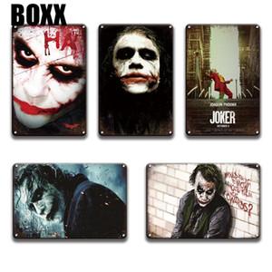 2020 Vintage Joaquin Phoenix Joker Movie Metal Tin Sign Metal Wall Art Poster Halloween Home Decor Retro Joker Metal Plaque Signs