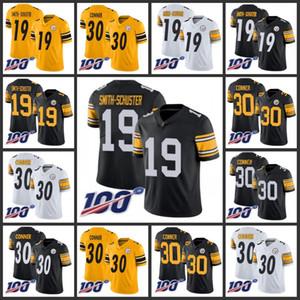PittsburghSteelersMen # 19 JuJu Smith Uomini Schuster 30 James Conner di colore della squadra femminile della gioventù 100 ° Stagione Limited Jersey