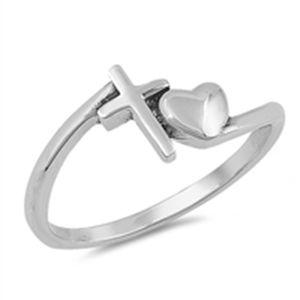2020 New Style argento 925 amore la croce cristiana Anello accessori insieme dei monili per il partito