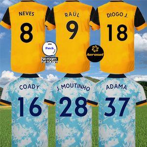 كيت الاطفال الذئاب NEVES RAUL الرئيسية لكرة القدم الفانيلة 2020-21 ADAMA DIOGO J. COADY نيتو PODENCE DOHERTY بولي J.OTTO كرة القدم قميص
