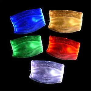 New Home 7 couleurs de fête Masques LED lumineux Face Mask Rave Party de Noël Festival de mascarade mode Glowing masque avec filtre PM2,5