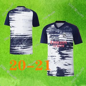 20 21 ريال مدريد قبل مباراة تدريبية دعوى جيرسي لكرة القدم قميص أخطار SERGIO RAMOS BENZEMA VINICIUS camiseta كرة القدم الزي الرسمي 2020 2021