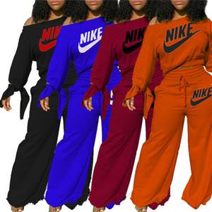 Kadınlar Marka Tasarımcı Koşu Suit Uzun Kollu Kapüşonlular + Geniş Bacak Pantolon 2 Adet 3849 Kıyafetler Kazak Eşofman S-2XL Sonbahar Kış Giyim Setleri