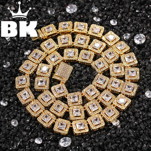 THE BLING KING 10mm Square Rock Cubic Zirconia Tennis Lovely Top Quality Hiphop Necklace Luxury Full Iced Out CZ Jewelry