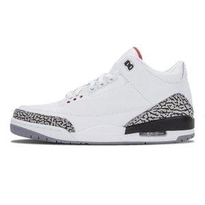 Novo Basquete Best Men Mens Qualidade 3 3s 2019 Shoes Black White Cement Coreia do Katrina OG Sneakers Tamanho US7-13 EUR40-47