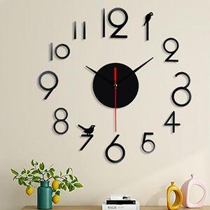 3D Wall Clock Watch Wall Clocks Horloge DIY Acrylic Mirror Stickers Clock for Living Room Bedroom Home Decor Clocks