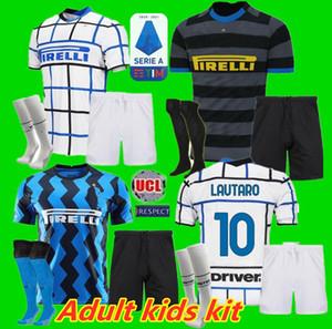Adultos crianças kit 20 21 Lukaku ALEXIS camisa de futebol Inter de Milão Milão 2020 2021 LAUTARO SKRINIAR Inter de Milão adulto terno KIDS jersey