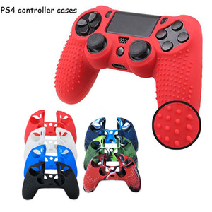 Silicone gamepad Skin Grip Cover Case For PS4 Pro Dualshock 4 PS4 controller Protective caseS game controllers covers