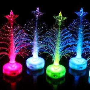 Цвет Крытый T3i5403 Дерево Модель Украшение Свет Свет Семь цветов Fiber Night Светящийся Led лампы Дерево Крытый Рождество yxlDm home2009