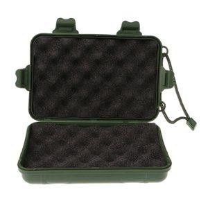 Caja de almacenamiento caja de herramientas de plástico con correa de mano para llevar el viaje de camping linterna del faro de punta de flecha de caza