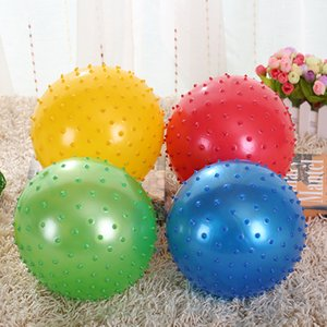 50pcs 20cm Kid inflatable massage jumping ball Children Healthcare PVC material bouncing balls Balance gym Ball