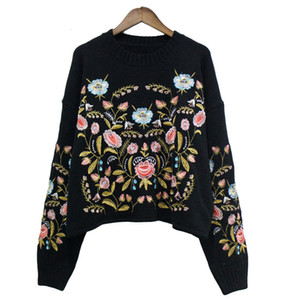 Fall new Big girls sweater kids stereo flower embroidered sweater pullover women knitted sweater big girls long sleeve jumper A4475