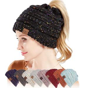 Unisex Fashion hats Knitted Cap Autumn Winter Men Cotton Warm Hat Skullies Brand Heavy Hair Ball Twist Beanies Solid Color Wool Hats AAF2044